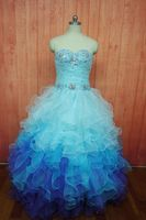 Custom Made 2017 Colorful Puffy Organza Quinceanera Dresses Debut Gowns Crystal Top Sexy Sweetheart Masquerade Gowns For 16