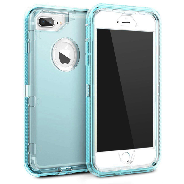 Mayround Heavy Duty Armor Plain 360 Clear Crystal Case Cover For iPhone Xs Max/XR/X Protector PC+TPU Clear For iPhone 6 7 8 Plus