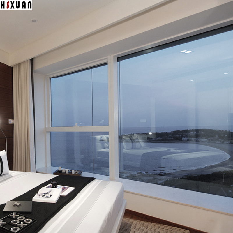 Transparent Window Solar Film 90x100cm Silver Reflective Sliding Door One  Way Mirror Tint Window Stickers Hsxuan