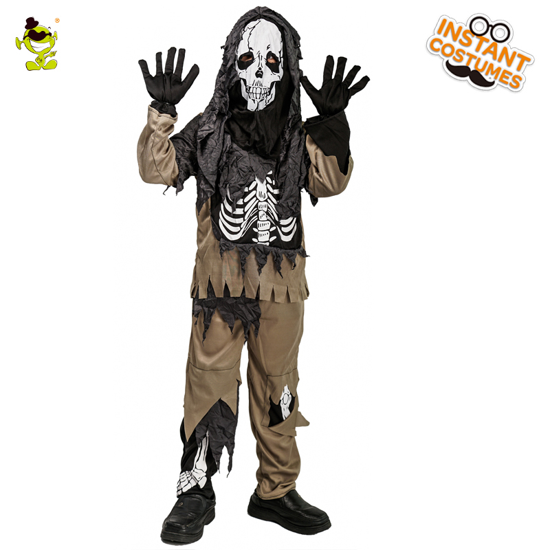 Halloween Children's Boy Ghost Costume Performance Scary Ghost Clothes Cosplay Christmas Party Role Play Kid Boy's Ghost Costume