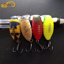 4pcs 28mm 3D Lazer Eye Shallow Diving Crankbaits Floating Minnow Crank Bait Long Casting Bass Trout Lure Fishing Hook
