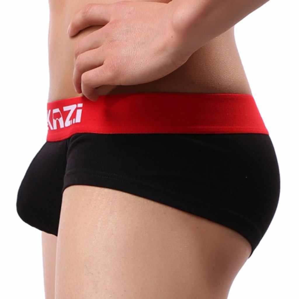 FANKAZI Mens Sexy jockstrap homo mannen Ondergoed Shorts Underpants Patchwork Katoenen Slips PantiesMens l1927