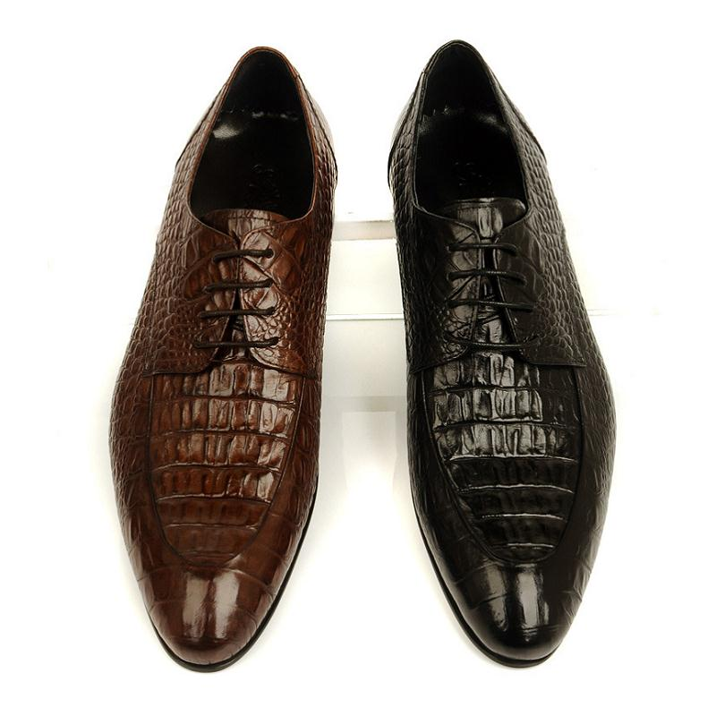 Style Chaussures Cuir Luxe En Italien brownish De Crocodile Bottes Yellow automne Hommes Noir Mariage Printemps Designers Sapatos Mycoron Masculinos RxqSCwnvIv