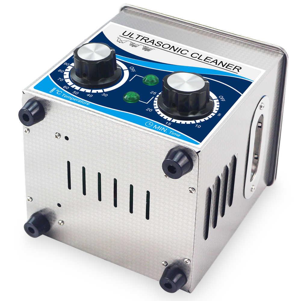 Rumah Tangga 2L 60 W Ultrasound Pembersih Penghitung Waktu Heater Anti Karat Ultrasonik Pembasuh Mandi Alat Gigi Jam Tangan Kacamata Perhiasan