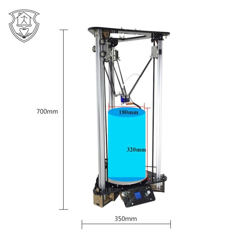 EZT3D 3D Impresora Polea Versión Kit DIY Kossel Linear Delta Pantalla Lcd a Colo