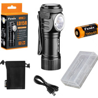 Fenix LD15R 500 Lumen Right Angle White Red LED Rechargeable Mini Flashlight With 16340 Battery USB