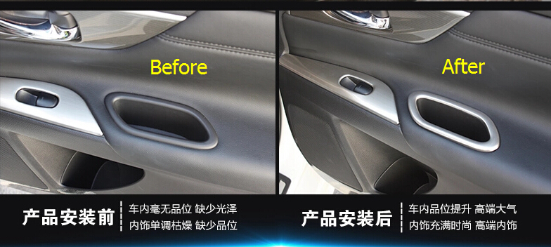 Matte Style! ABS Rear Door Handle Bowl Frame Cover Trim 2 pcs For ...