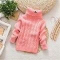2016 Baby Girls Boys jumper Autumn Winter Cartoon Sweaters Children Kids Knitted Pullover Warm Outerwear Babi Turtleneck Sweater