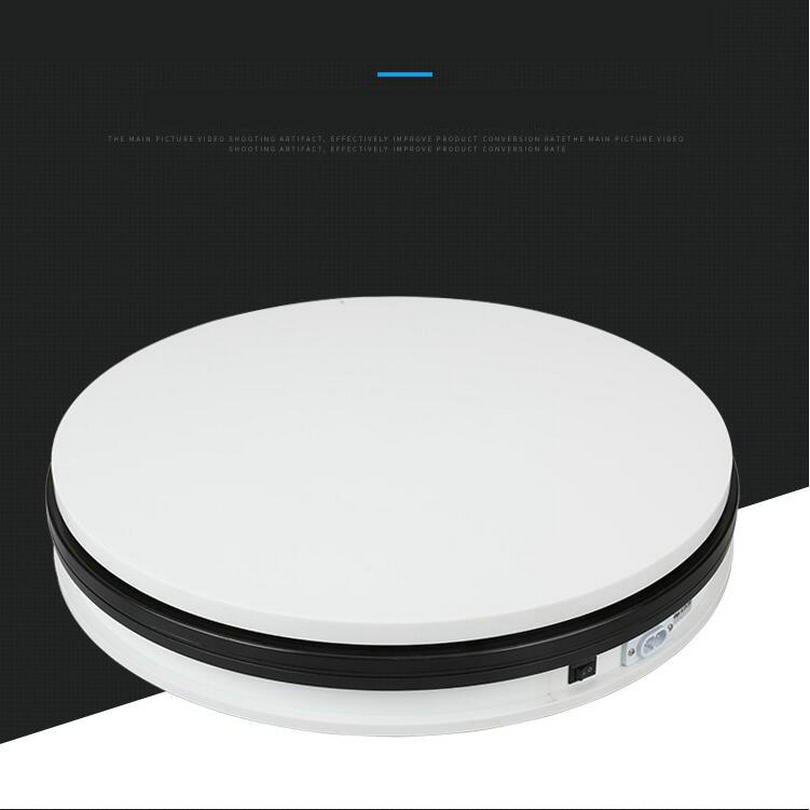 HQ 350X60MM Stable Heavy Load Electric Turntable Display Stand 360 Degree 30/60/90 Seconss Per Circle Electric Rotary Base