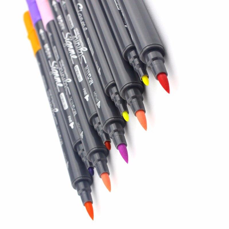 Jonvon Satone Water Soluble Mark Pen 12 18 24 Double Slider Multicolour Marker Pens Limited Finecolour Paint Marker