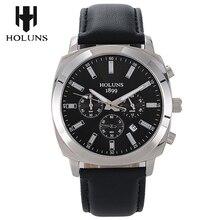 2016 Moda de Nueva llegada multifution Gran dial relogio masculino, Super luminoso calendario ventana SS caso digital del reloj de los hombres