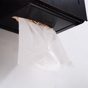 Image 4 - Scatola di Carta igienica Supporto di carta con Scaffale Creativo di Alluminio Nero Porta Asciugamani di Carta Decorativa Bagno Rotolo di Carta Holder Fissato Al Muro