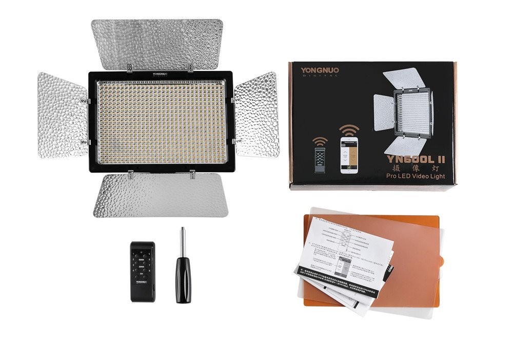 bilder für YONGNUO YN600L II YN600II 5500 Karat YN600 600 RA CRI 95 LED licht Panel mit 2,4G Drahtlose Fernbedienung Led-videoleuchte für DSLR
