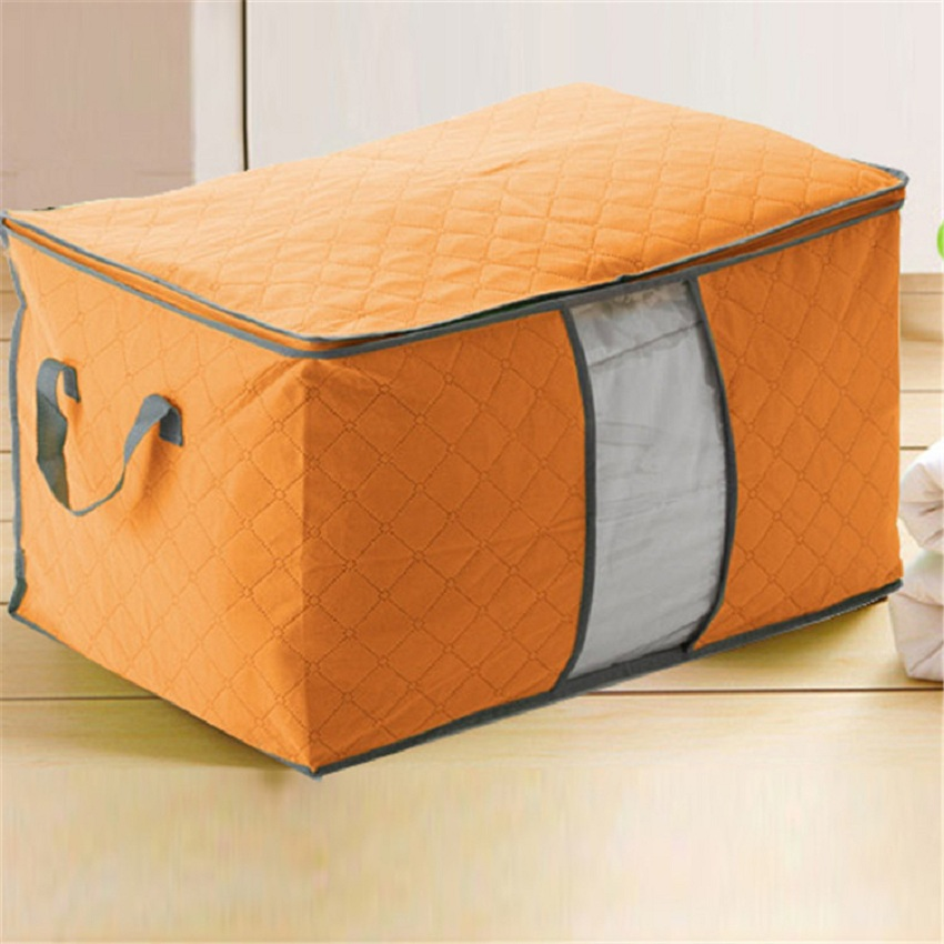 Large waterproof Quilt storage box Non-woven fabric Folding organizer clothes storage box  organizer Quilt storage box basket  ...