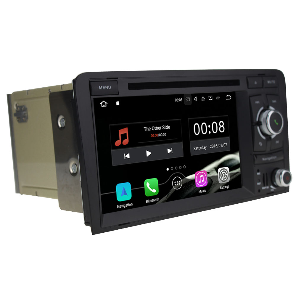 2Din Quad Core 2GB RAM 16GB ROM Android 7.1.1 Car DVD Radio GPS Navigation For Audi A3 S3 RS3 2003 2004 2005 2006 2007 2008-2013