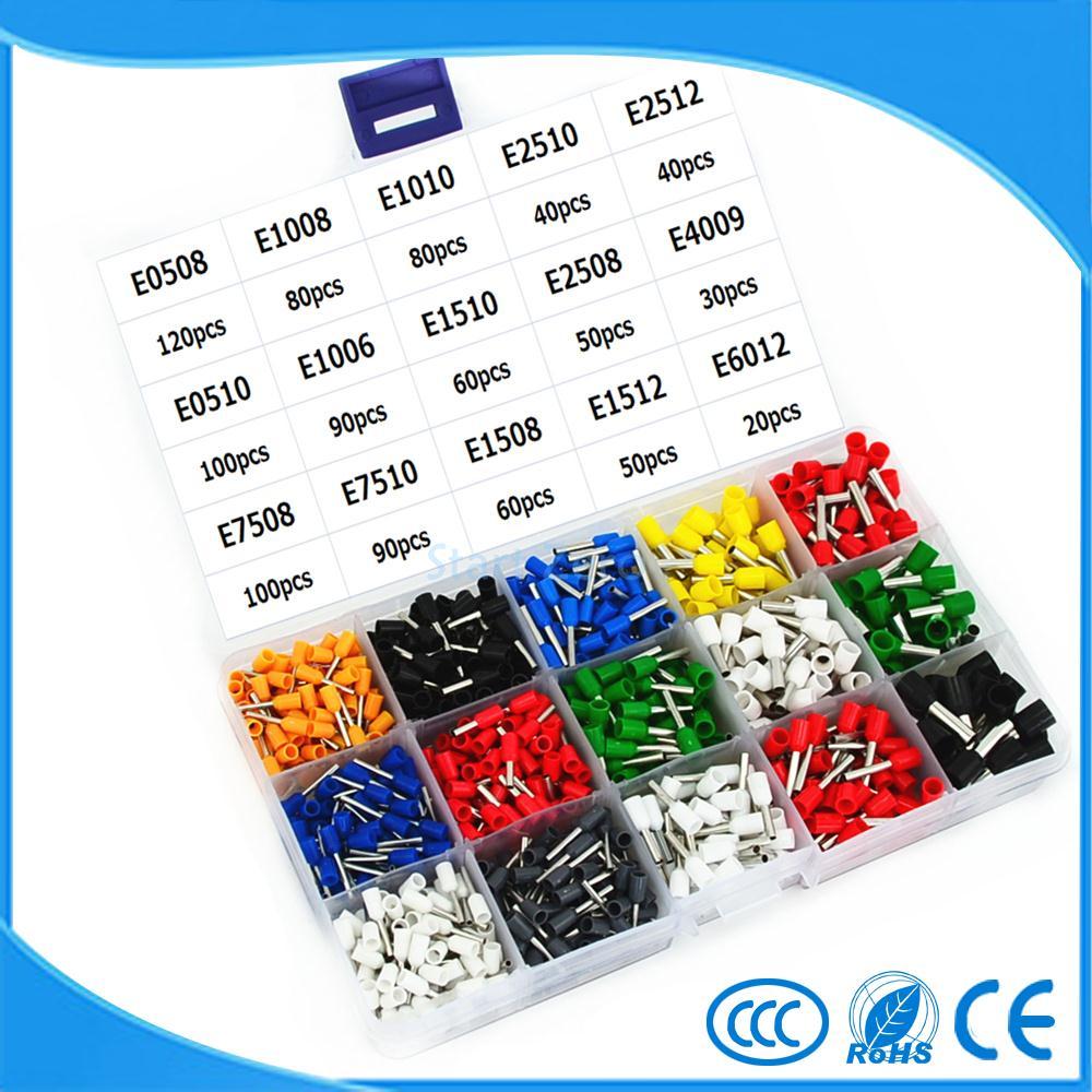 15 Model 8 Color Insulated End Terminal Wire  Copper Crimp Connector 1000PCS/Kit Box тональный крем 15 color 15 color 15 y641