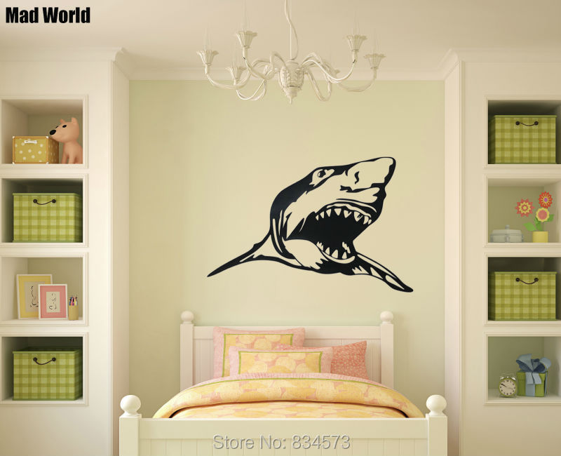 Aliexpress.com : Buy Mad World Animal Scary Shark Ocean Silhouette ...