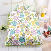 Cute Cartoon Forest Owl Duvet Cover Sets AU US EU Single Double Queen Bed Linens 2/3pcs Adult/Kids Bedclothes Gift Free Shipping