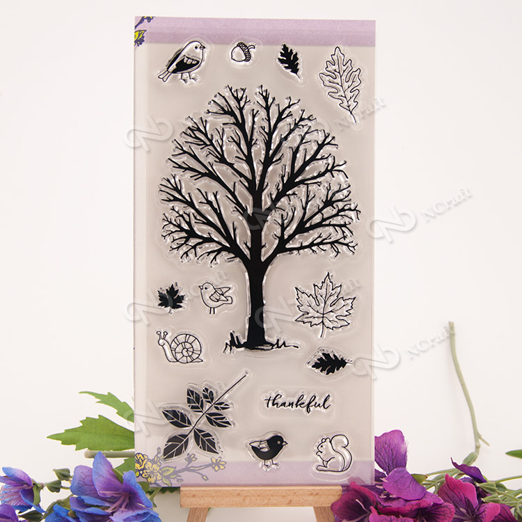 NCraft Clear Stamps N2180 Scrapbook Paper Craft Clear stamp scrapbooking tree and birds