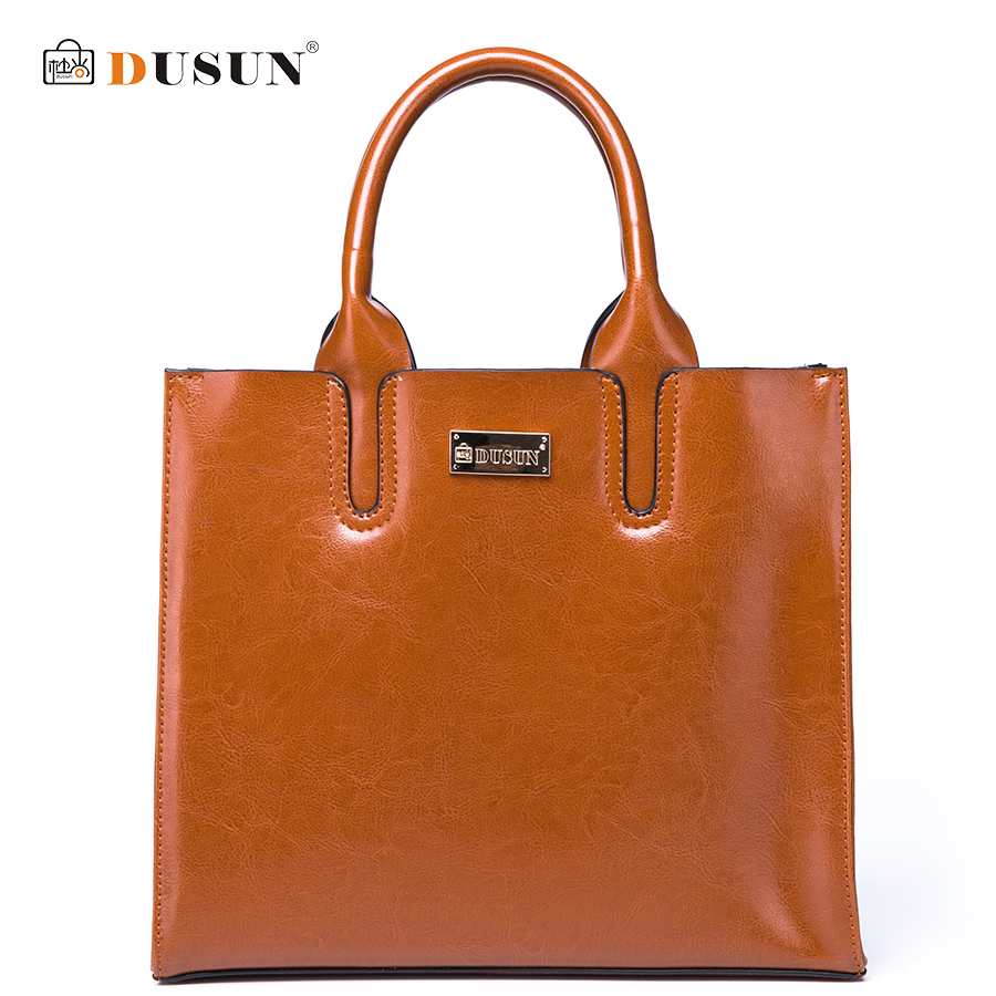 DUSUN Classic Women Brand Shoulder Bag Women Genuine Leather Handbags Female Solid Color Messenger Bag Fashion Ladies Bags 2017 new female genuine leather handbags first layer of cowhide fashion simple women shoulder messenger bags bucket bags