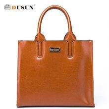 DUSUN Klassische Frauen Marke Umhängetasche Frauen Echtem Leder Handtaschen Weibliche Einfarbig Umhängetasche Mode Damen Taschen