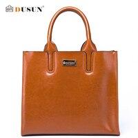 DUSUN Classic Women Brand Shoulder Bag Women Genuine Leather Handbags Solid Female Color Messenger Bag Fashion