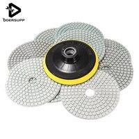 Melhor Preço 10 Pçs/set Wet Dry 4 polegada de Diamante Almofada de Lustro Para O Granito Pedra Mármore Concrete Nova Chegada