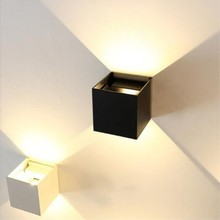 Waterproof LED Wall Lamp Adjustable Aluminum Wall Light 7W 12W COB Outdoor Garden Porch Corridor Wall Mounted Sconce