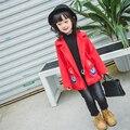 Para baixo casaco para as meninas jaqueta casaco de lã casaco de lã da menina do bebê crianças para baixo crianças roupas de inverno 2016 nova BC-SY570B