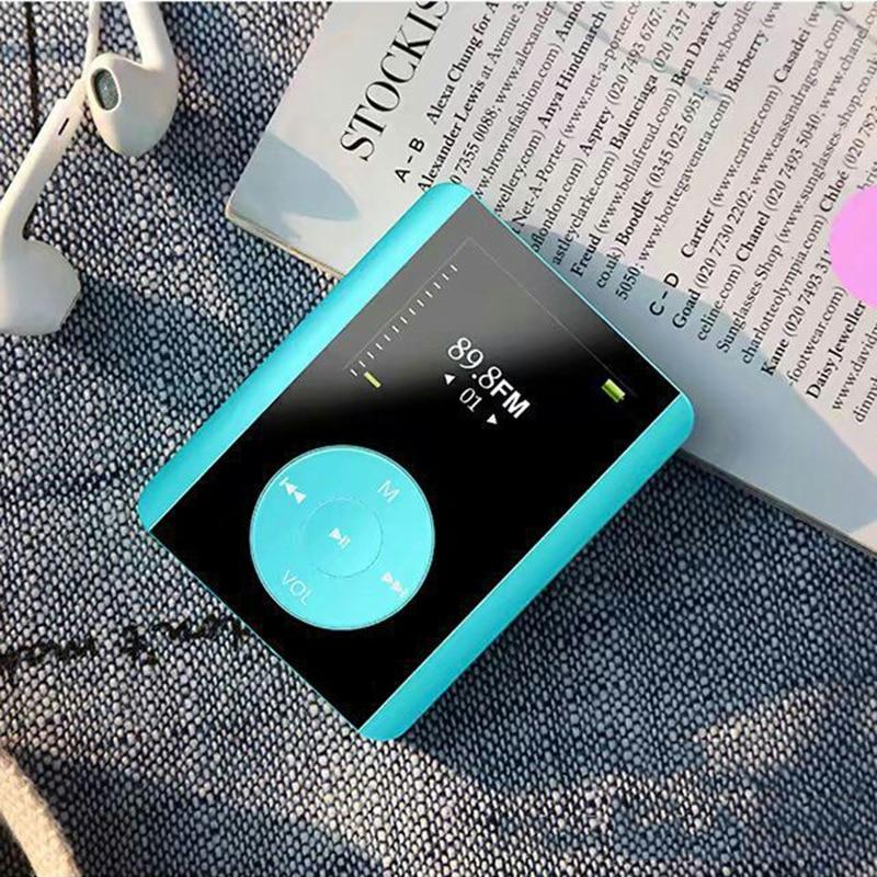 2018 New Mini Fashion MP3 Music Player 8GB 1.8 HiFi Touch Button MP3 Support TF Card FM Radio Voice Recorder 5 Colors