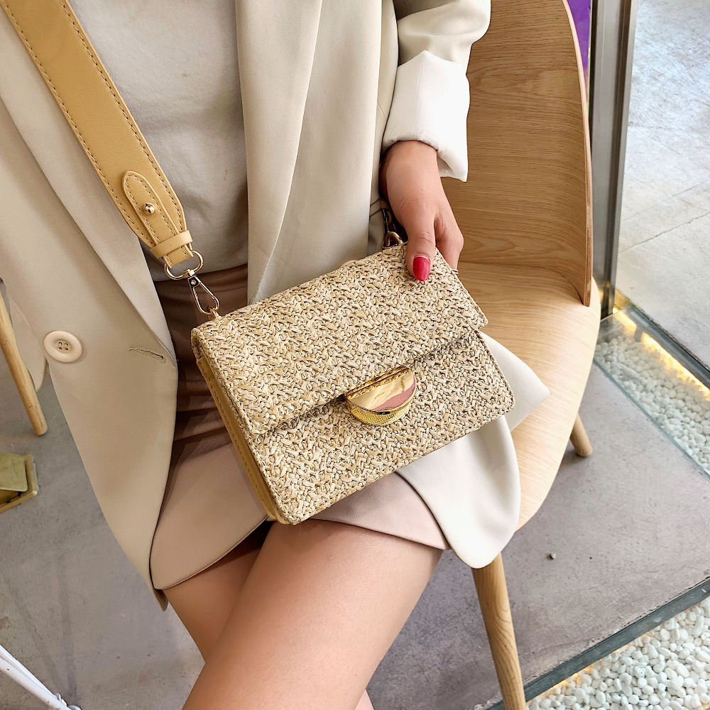Mini Weaving Crossbody Bags For Women 2020 Summer Ladies Leather Purses And Handbags Female Travel Shoulder Messenger Bag