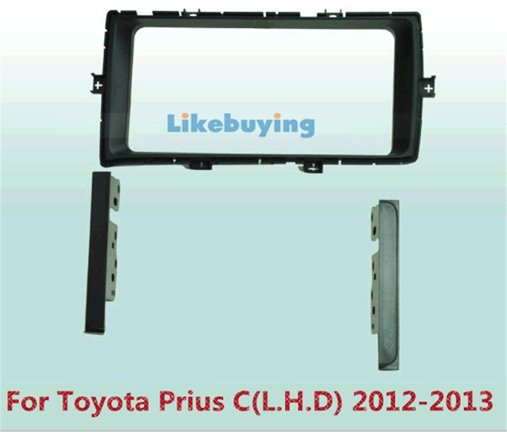2 Din Car Frame Dash Kit /Car Fascias / Mount Bracket Panel For Toyota Prius 2012 2013