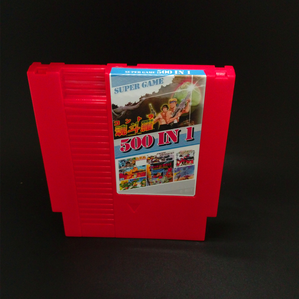 500 In 1 DIY 72 pins 8 bit Game for NES with game Contra NINJA TURTLES1 2 3 4 ADVENTURE ISLAND Bomber man P.O.W DOUBLE DRAGON