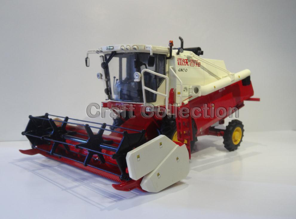 * Red 1/35 Foton Foton Lovol Reaping Machine GN70 Diecast Model