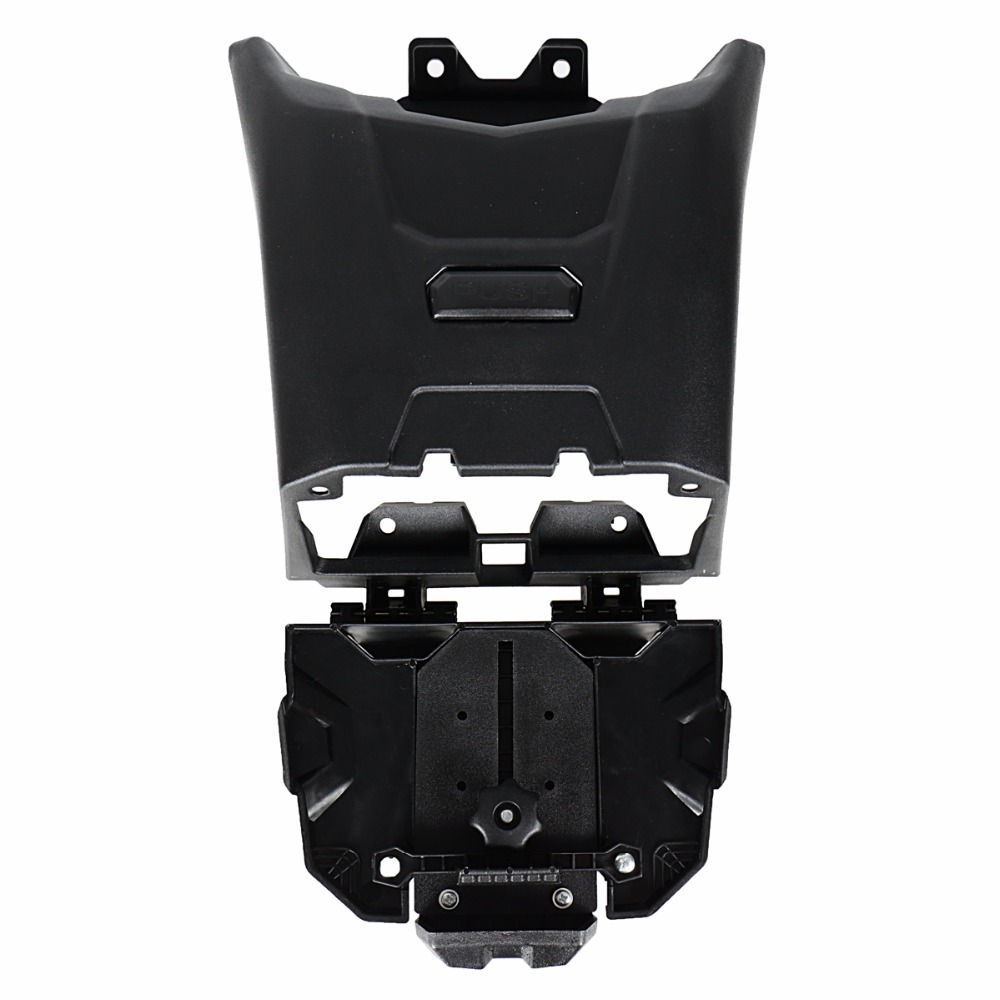 Soporte de dispositivo electrónico negro con almacenamiento integrado para modelos Can Am Maverick X3 de 2017 2018 - 3