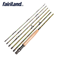 2.7M/9FT 6pcs 5/6 Fly Fishing Rod IM7 Carbon Travel Fly Rod Camouflage Design 119g/4.2oz Fly Fishing Pole w/ A grade Cork Handle