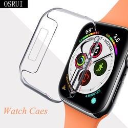 42 мм 38 мм ремешок для Apple Watch 4 band чехол correa aple 44 мм 40 мм прозрачный силиконовый чехол iwatch чехол 3 2 Аксессуары для часов