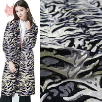 Sexy black gold zebra metallic jacquard brocade fabric for dress coat metallic jacquard tissue cloth tela tejido stoffen SP5651