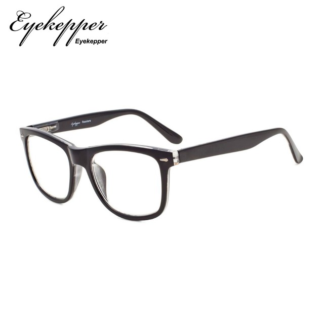 R080 Eyekepper Readers Square Large Lenses Spring-Hinges Reading Glasses & Reading Sunglasses Men Women +0.50----+4.00