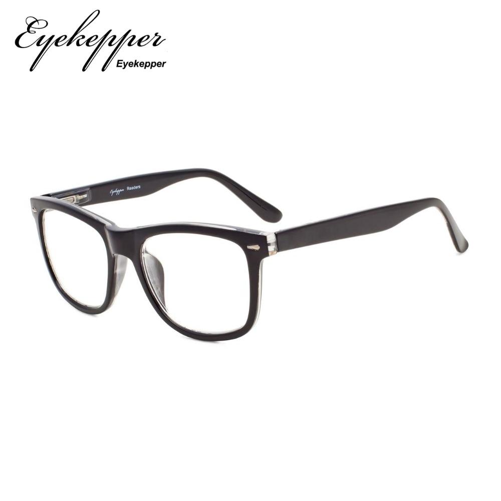 40764ab07379 R080 Eyekepper Readers Square Large Lenses Spring-Hinges Reading Glasses & Reading  Sunglasses Men Women +0.50----+4.00