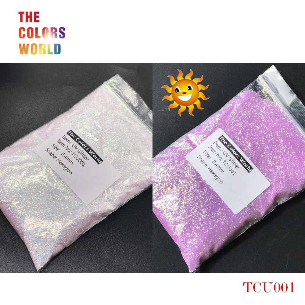 TCT-202 UV Glitter uv Licht Hexagon Form 0,4mm Nagel Glitter Nagel Dekorationen Nagel Gel Make-Up Facepaint DIY Zubehör