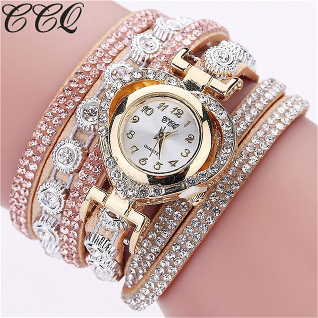 Hot Selling Women Rhinestone Bracelet Watches Casual Ladies Quartz Watch Fashion