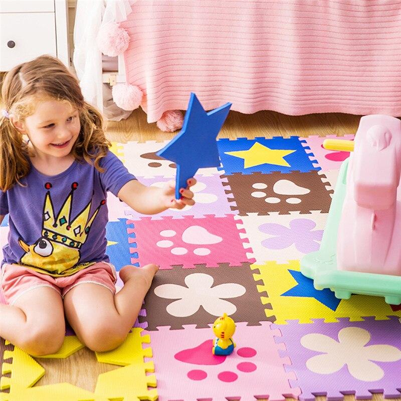 JCC Splice Patterns EVA Foam Puzzle Play Mat /kids Rugs Carpet Interlocking Exercise Floor For Children Tiles 30*30*1cm