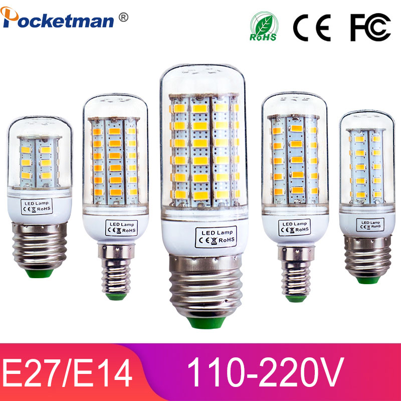 E27 E14 LED Light Lamp AC 220 V SMD 5730 Led Corn Bulb Lighting Lamp 69/48/36/24Led E27 Led Bulbs Z25