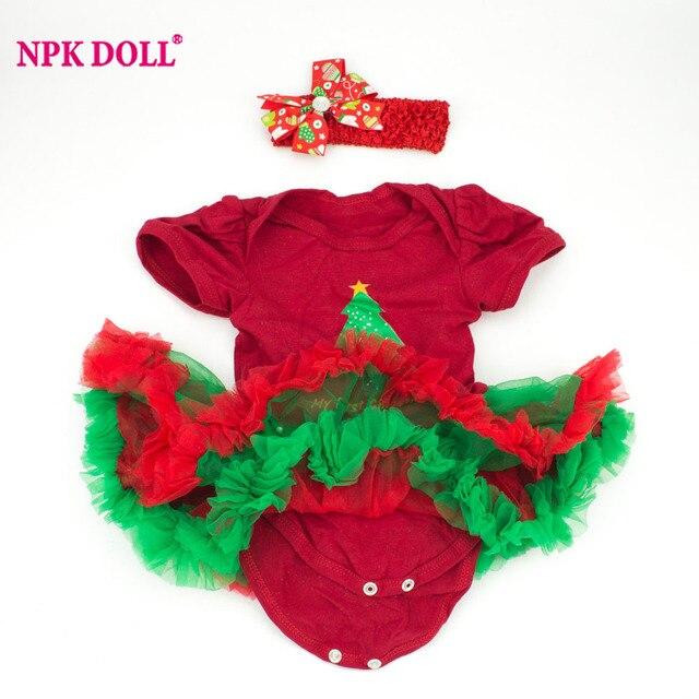 npkdoll 22 inch doll clothes fit 20 22 inch reborn dolls christmas tree pattern dress