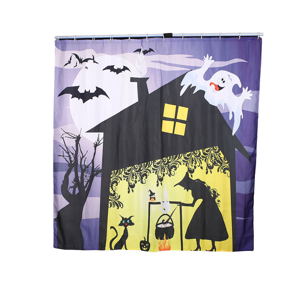 Halloween shower curtain hooks - Warm Tour 3d 180x180cm Sorcerer Halloween Shower Curtain Forr Beach Pool Home Bathroom With Hooks