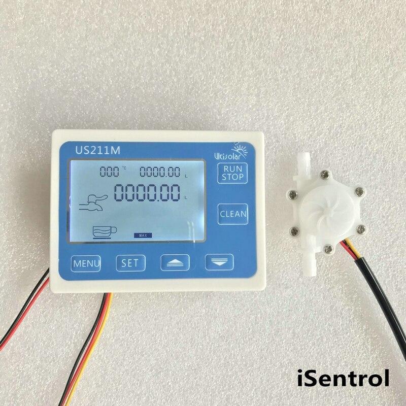 Affichage US211M avec mesure de débit de totalisateur de débitmètre USN-HS06PA-3 0.3-3,5l/min gamme 6mm