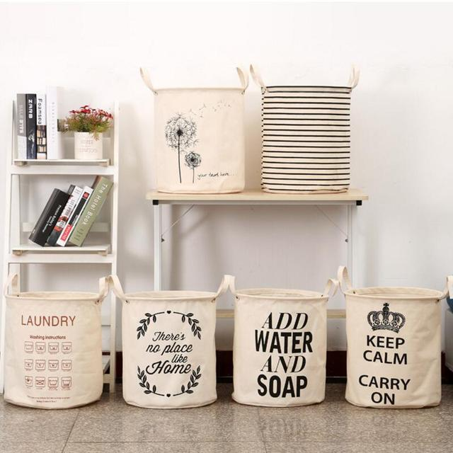 New Waterproof Laundry Hamper Clothes Storage Baskets Home Barrel Bags Kids Toy Organizer