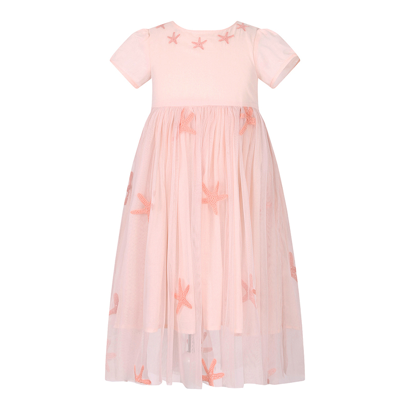 цены на W.L.MONSOON Brand Children's clothing Girls dress summer Short sleeve Pink Western style princess Puff Mesh dress в интернет-магазинах