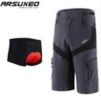 ARSUXEO мужские велосипедные шорты Нижнее белье для спорта на открытом воздухе горные MTB шоссейные горные велосипедные дышащие